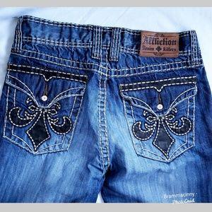 Affliction Destroyed Denim Killers Ripped Jeans